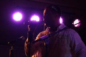 Lichtinstallatie tijdens live optredens