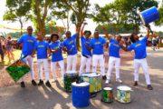 Batucada drumband uit Brasil in tenues