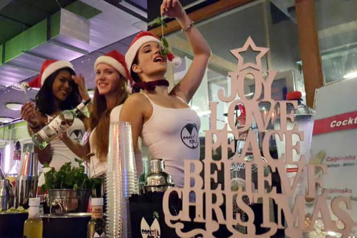 Cocktailgirls kerst xmas thema