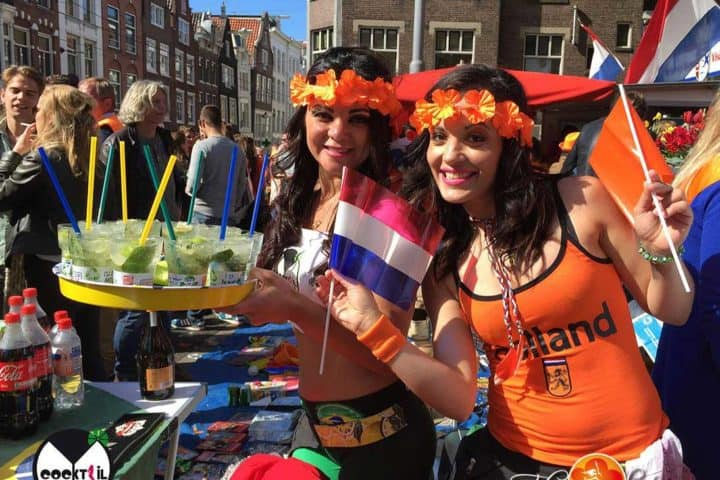 Cocktailgirls oranje thema Nederland