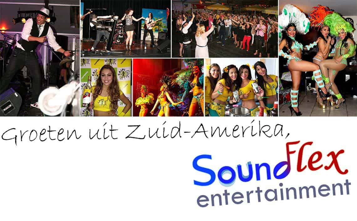 Overzicht SoundFlex tropisch entertainment